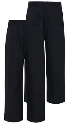 George Boys Navy Longer Length School Trouser 2 Pack