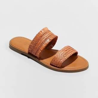 Universal Thread Women's Elizabeth Woven Two Strap Slide Sandals
