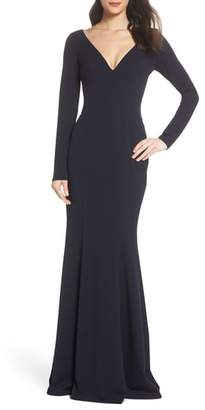 Katie May Cleo Back Cutout Trumpet Gown