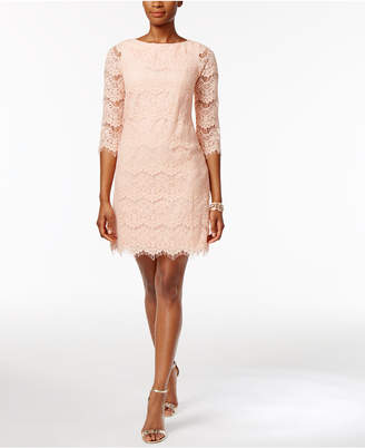 Jessica Howard Lace Illusion Sheath Dress $89 thestylecure.com