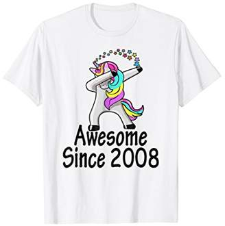 Awesome 2008 Shirt 10th Birthday Gift Unicorn Dabbing Outfit