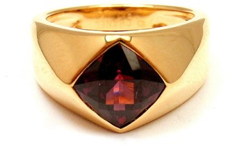 18K Yellow Gold and Amethyst Ring Size 5