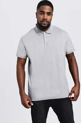 boohoo Big & Tall Short Sleeve Polo