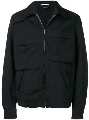 Comme des Garcons pleated zip-up jacket