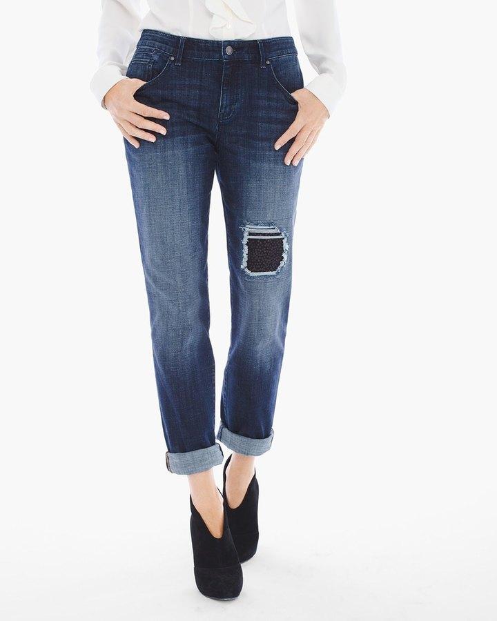 Chico'sSequin-Patch Boyfriend Jeans