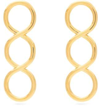J.W.Anderson Twisted Earrings - Womens - Gold