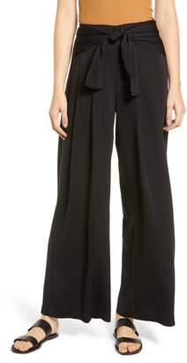 Moon River Tie Waist Wide Leg Pants