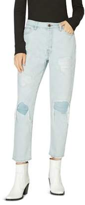 Sanctuary Alt Distressed Straight Crop Jeans in Blue