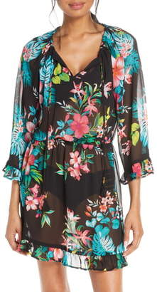Tommy Bahama Fleur de Flora Ruffle Tunic Dress