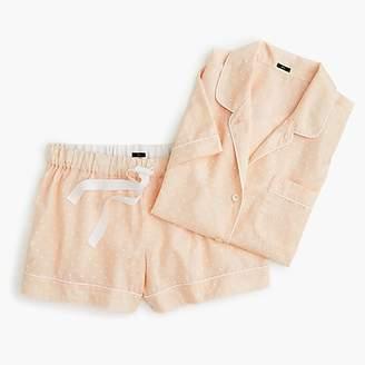 J.Crew Short-sleeve pajama set in dot