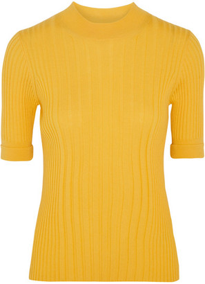 Maison Margiela - Ribbed Wool Sweater - Yellow $740 thestylecure.com