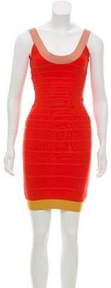 Herve Leger Tasha Bandage Dress