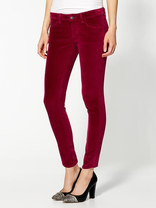 Siwy Hannah Slim Crop Velvet Pants