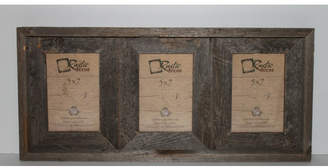 Loon Peak Ashbrook Rustic Barn Wood 3 Opening Collage Picture Frame