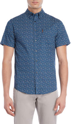 Ben Sherman Navy Ditsy Floral Short Sleeve Shirt
