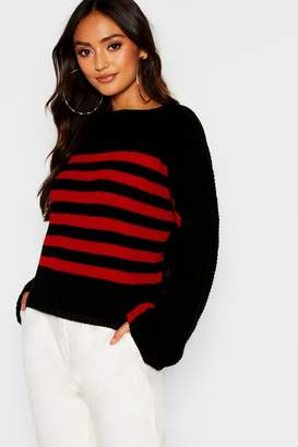 boohoo Petite Wide Sleeve High Neck Sweater