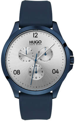 HUGO BOSS HUGO Men's #Risk Blue Rubber Strap Watch 41mm