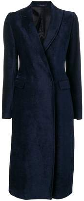 Tagliatore fitted single-breasted coat