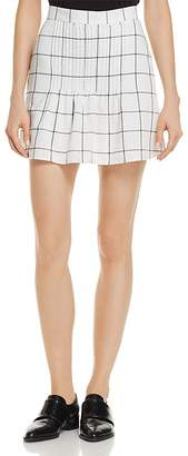 The Fifth Label Atticus Pin-Tucked Checked Skirt