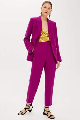 Topshop Magenta Suit Trousers