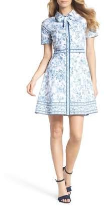 Gal Meets Glam Darla Cotton Toile Shirtdress