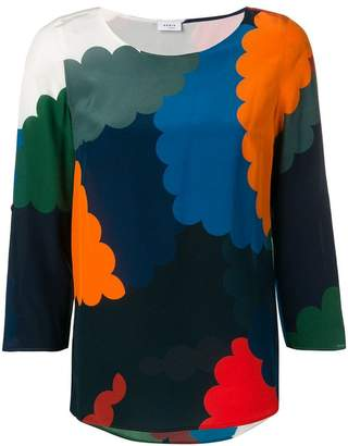 Akris Punto colour-block fitted blouse