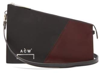 A-Cold-Wall* A Cold Wall* Geometric Leather Cross Body Bag - Mens - Burgundy