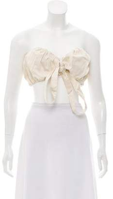 Cult Gaia Ruched Strapless Crop Top w/ Tags