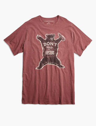 Lucky Brand Big and Tall Hipster Bear Tee