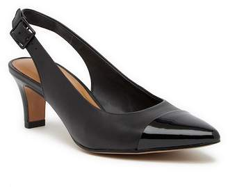 Clarks Crewso Emmy Leather Heeled Slingback - Wide Width Available