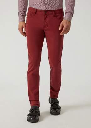 Emporio Armani J06 Slim Fit Stretch Cotton Gabardine Jeans