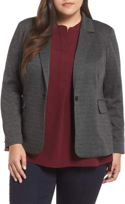 Vince Camuto Melange Herringbone Single Button Blazer