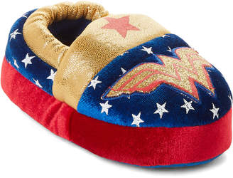 Wonder Woman (Toddler Girls) Red & Navy Character Slippers