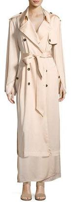 Elizabeth and James Aaron Oversized Trench Coat, Blush $695 thestylecure.com