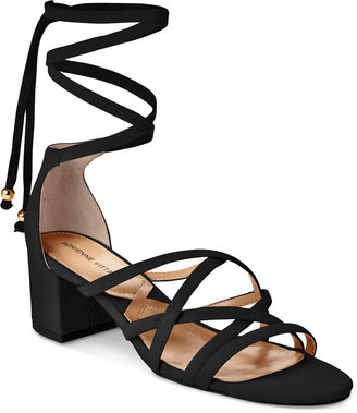 Adrienne Vittadini Alesia Lace-Up Sandals $110 thestylecure.com