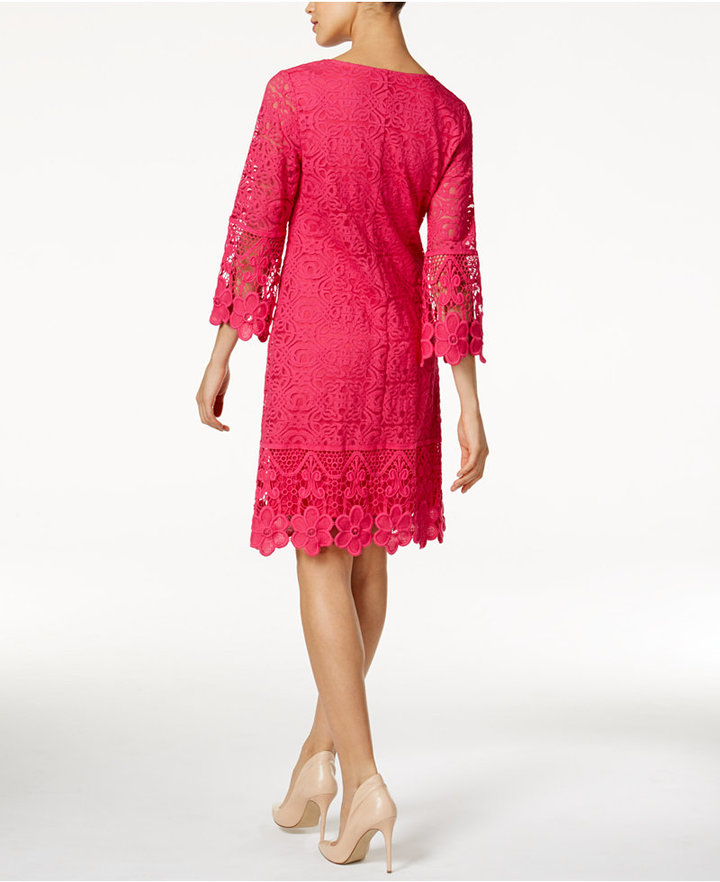 Alfani Crochet-Trim Illusion Dress, Only at Macy's 5