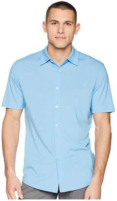 Puma Knit Shirt Men's Short Sleeve Button Up