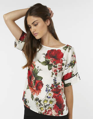 Monsoon Francesca Silk Print Top