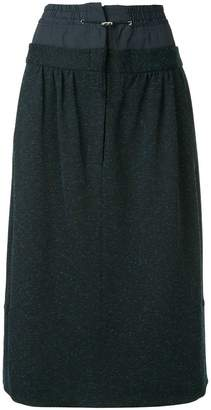 Tibi double waist mid-length skirt