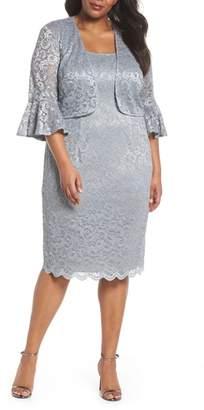Alex Evenings Lace Sheath Dress with Bolero Jacket
