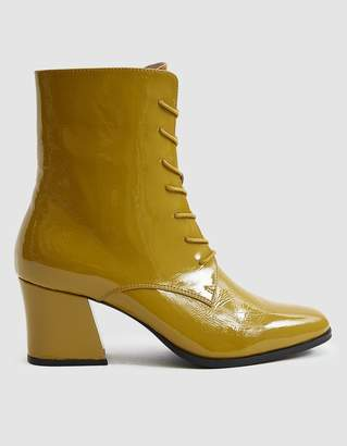 Intentionally Blank Mox Lace-Up Boot in Mustard Patent