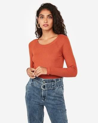 Express Ribbed Bateau Neck Sweater