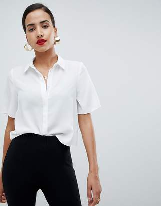 Asos DESIGN soft shirt with short sleeves