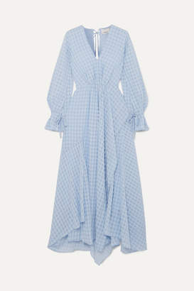3.1 Phillip Lim Ruched Jacquard Maxi Dress - Light blue