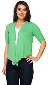 Denim & Co. Short Sleeve Open Front SweaterKnit Shrug