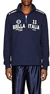 "Fila Men's ""Biella Italia"" Cotton-Blend Sweatshirt-Navy"