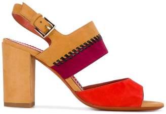 Santoni whipstitch detail sandals