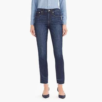 J.Crew Petite vintage straight jean in faded midnight with raw hems