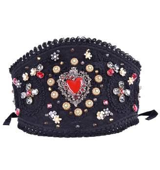 Dolce & Gabbana Black Cotton Belts