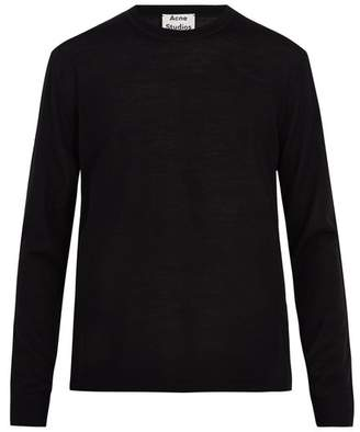 Acne Studios Nipo Crew Neck Wool Sweater - Mens - Black